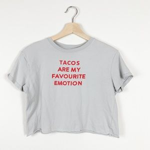 Bershka Tacos Are My Favourite Emotion Graphic Tee